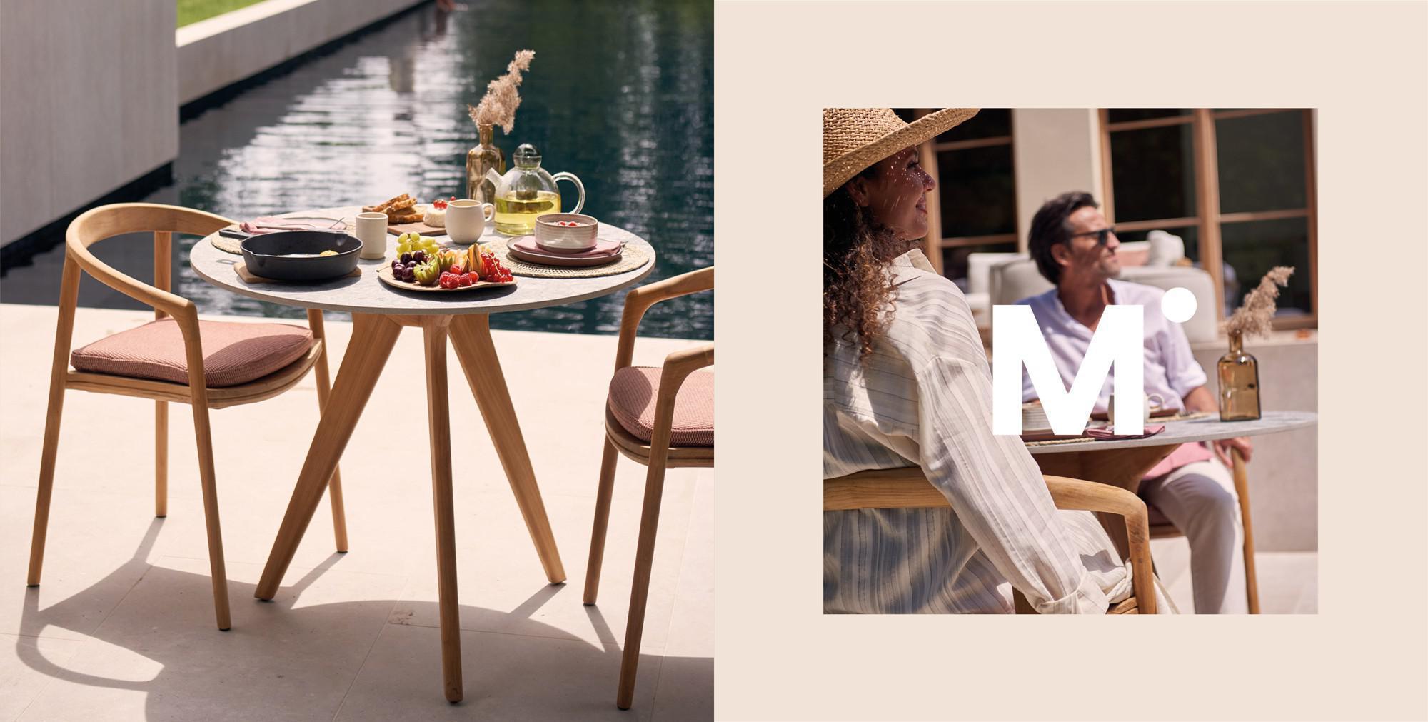 Torsa Esstisch und Solid Stühle