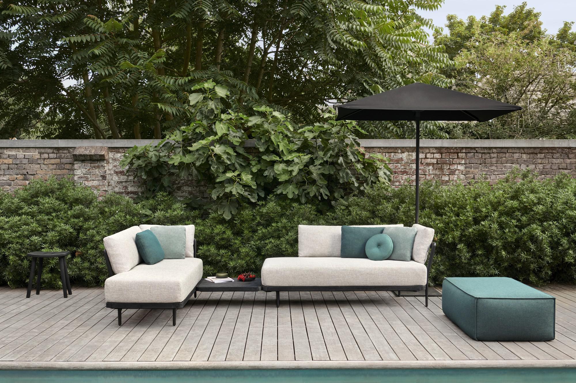 Flex divano teak nero