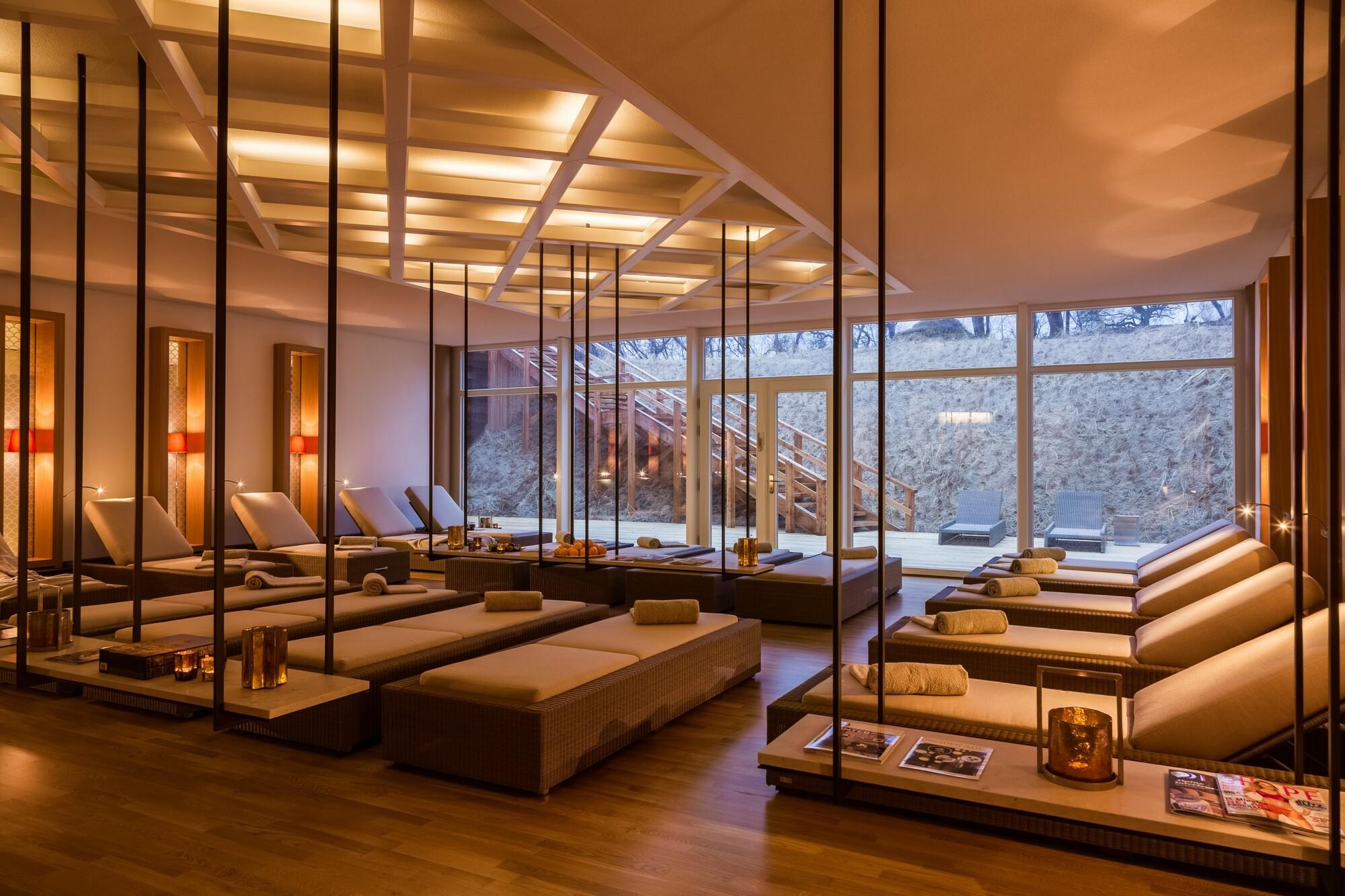 Spa with loungers