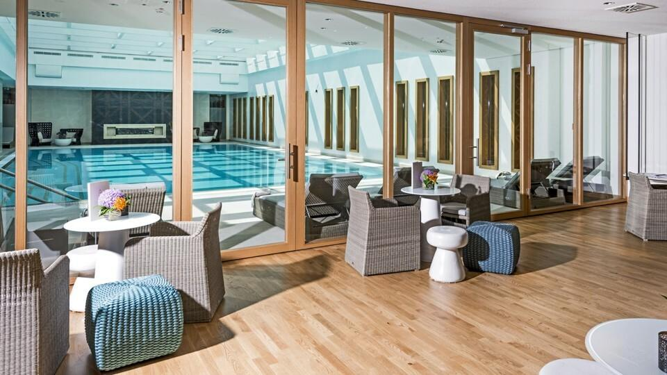Swimming pool and furniture