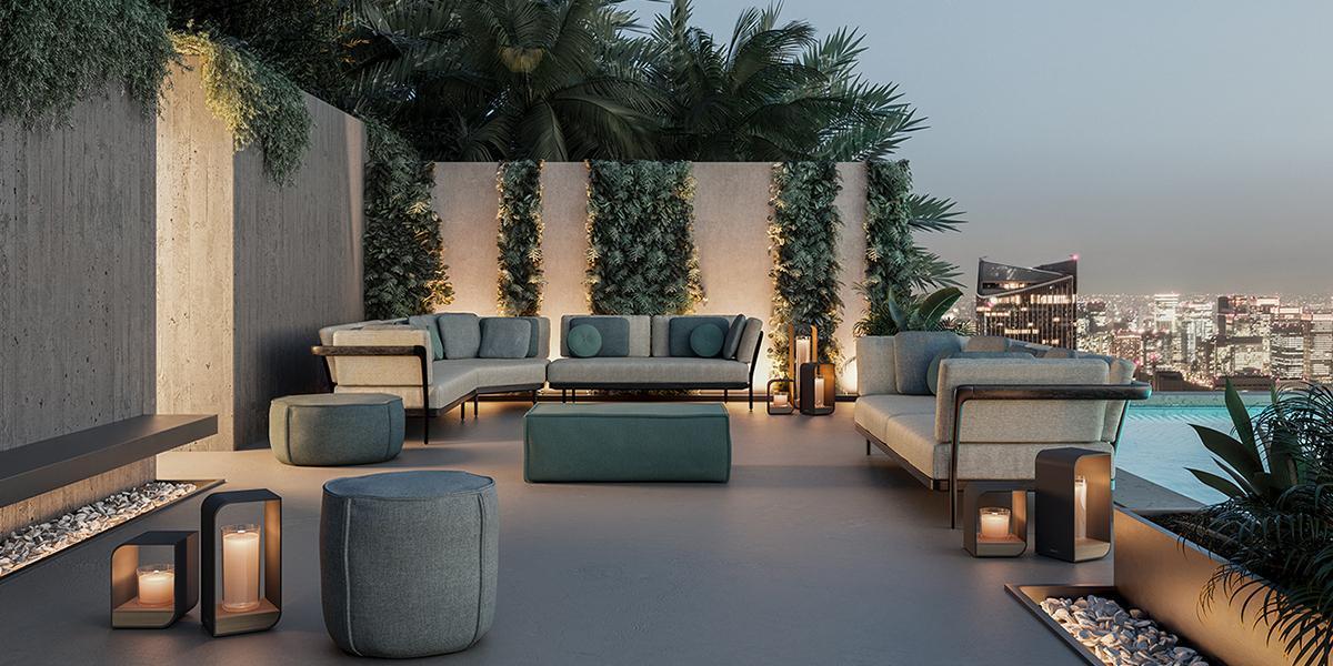 zitbanken, loungebedden en loungestoelen