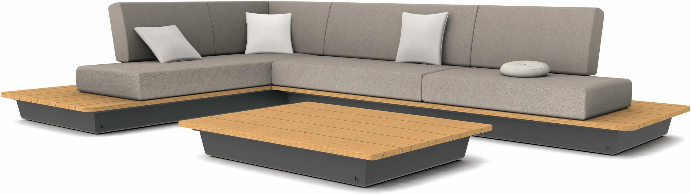 Air concept 1 - lava - wood top iroko