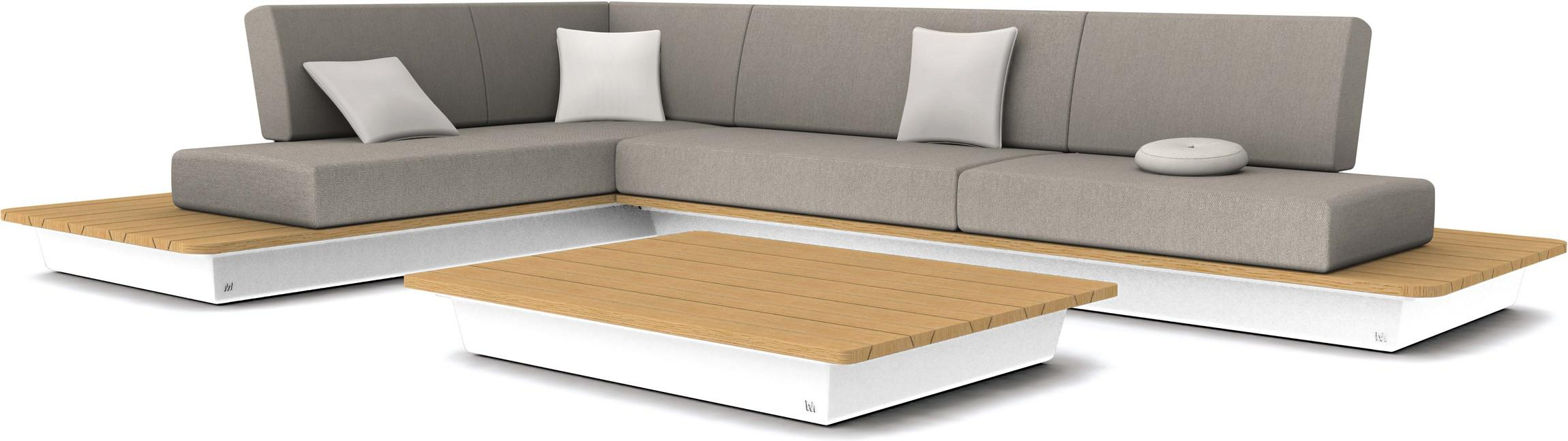 Air concepto 1 - blanco - tablero de madera iroko
