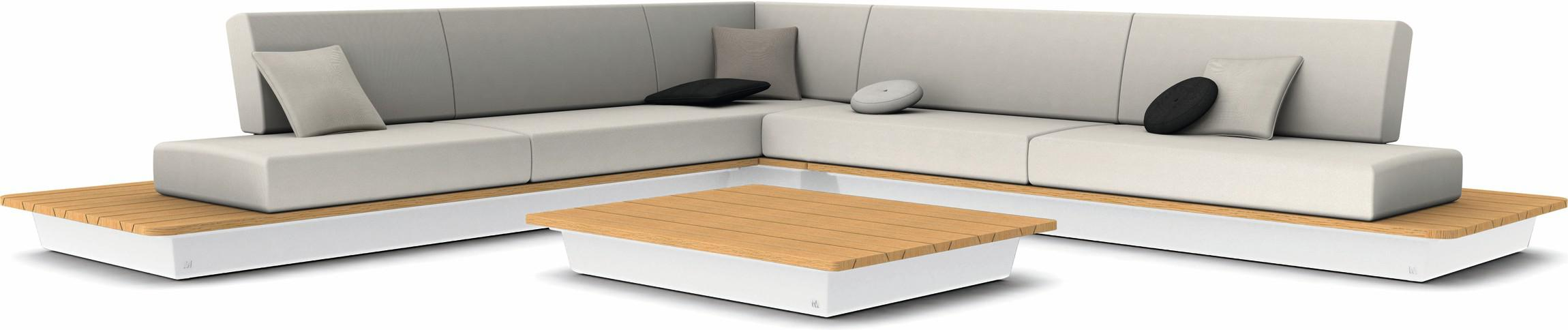 Air concept 5 - white - wood top iroko
