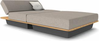Air concept 6 - lava - wood top iroko