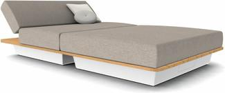 Air concept 6 - white - wood top iroko