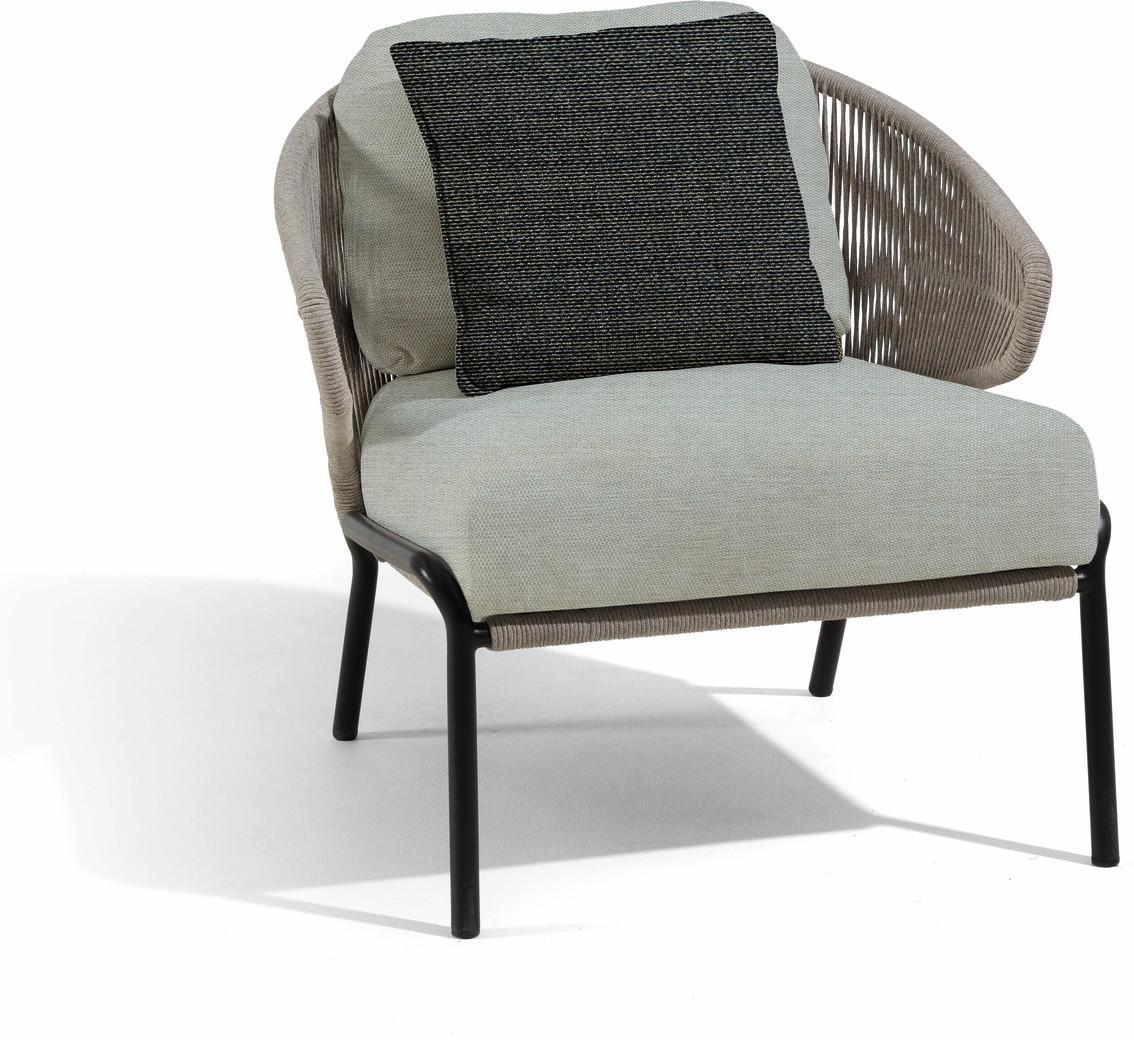 Radius 1-Sitzer - Lounge-Sessel - lavagrau - silber