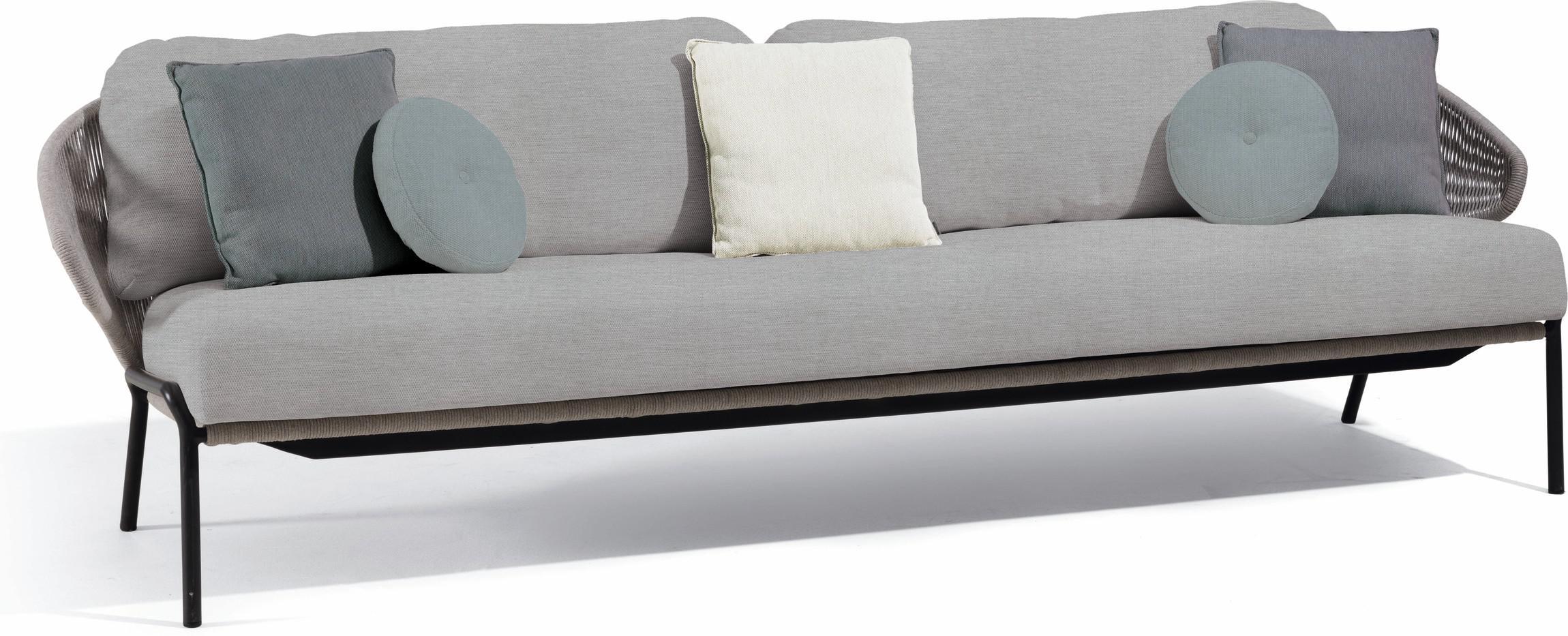 Radius 3S - Sofa fixed - lava - silver