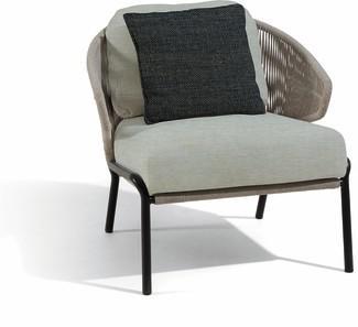 Radius 1S - Lounge chair - lava - silver