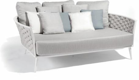 daybed - white - rope 45mm silver