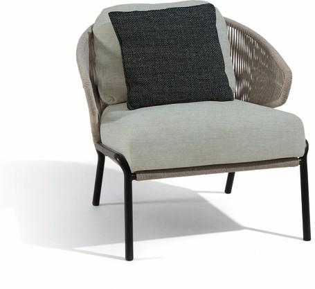 1S - Lounge chair - lava - silver
