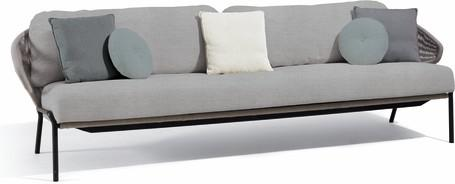 3S - Sofa fixed - lava - silver