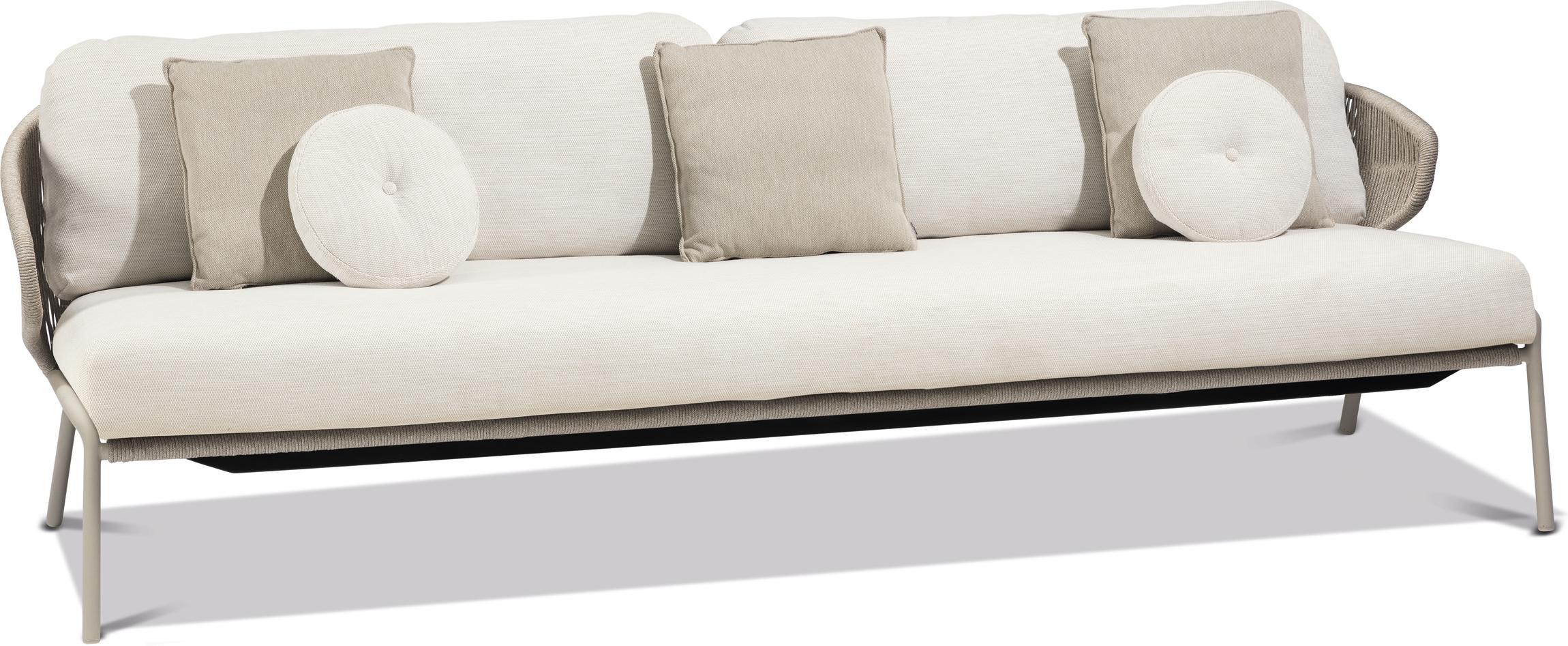 Radius 3 posti - divano fisso - selce - pepe