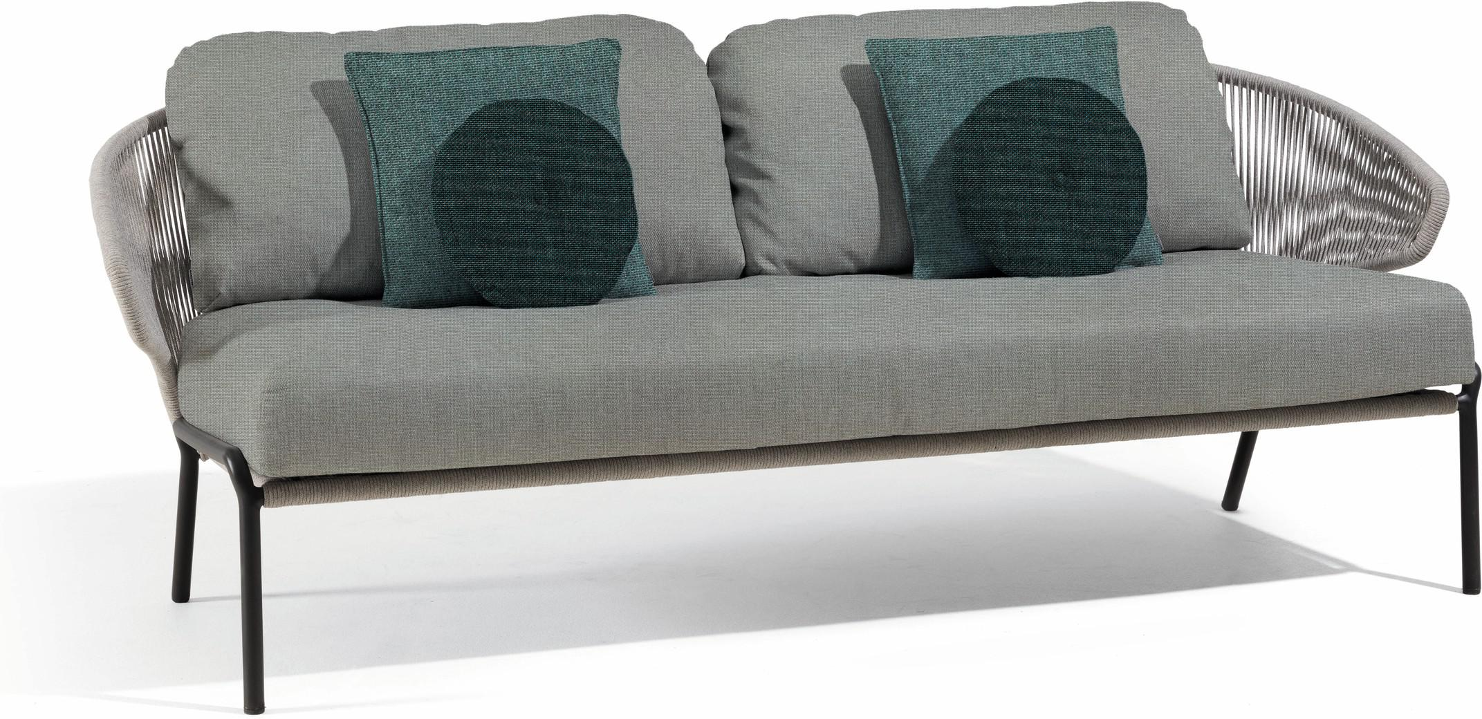 Radius 2,5 seater - Sofa fixed - lava - silver