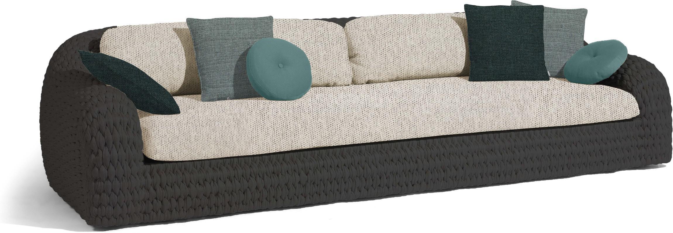 Kobo 3-Sitzer - Seilgeflecht 45mm anthrazit