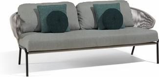 Radius 2,5S - Sofa fixed - lava - silver