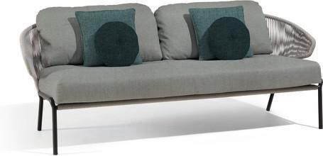 2,5S - Sofa fixed - lava - silver