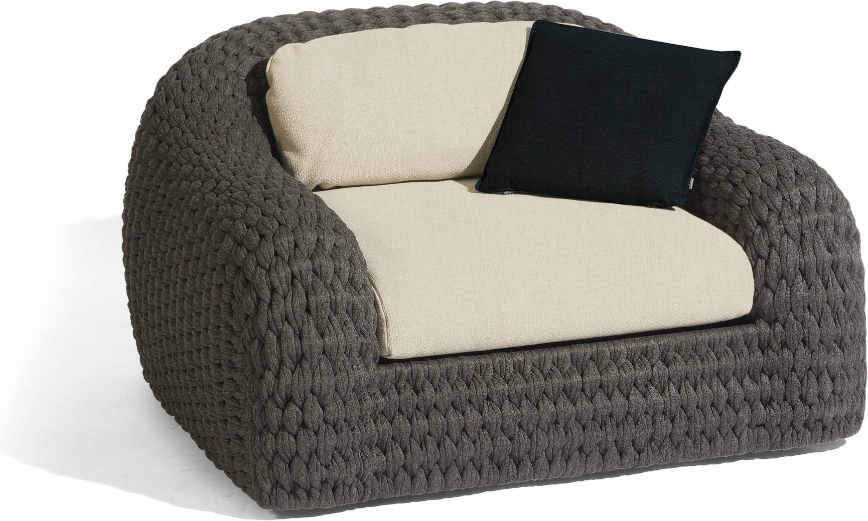 Kobo 1 seater - rope 45mm anthracite