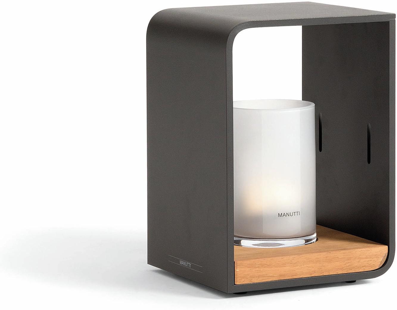 Flame lumo (petit modèle) - Led - lave - iroko