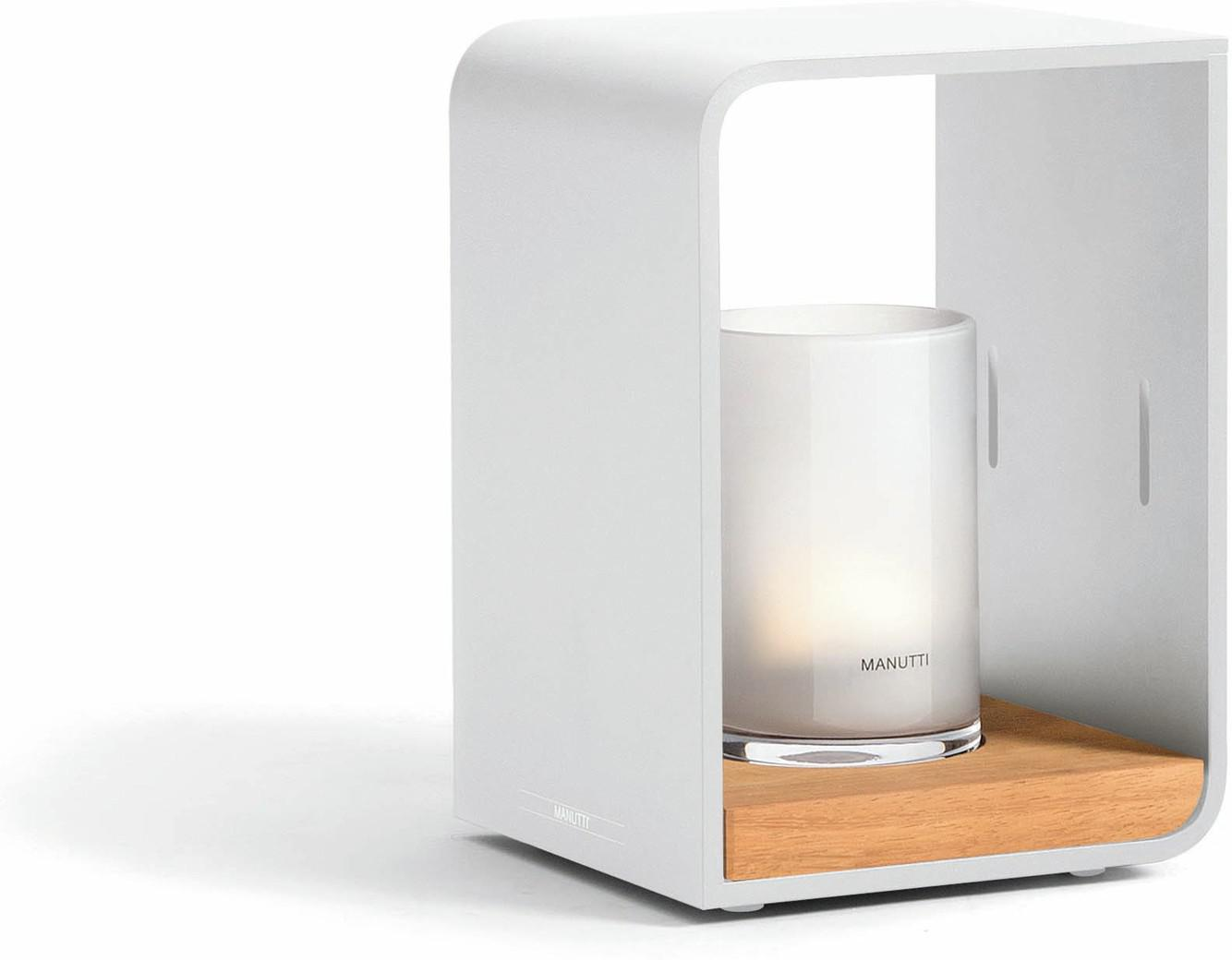 Flame lumo small - Led - white - iroko