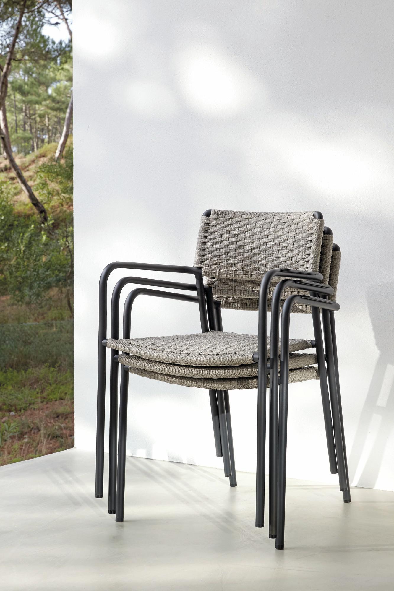 Outdoor Chair Echo White Silver Manutti