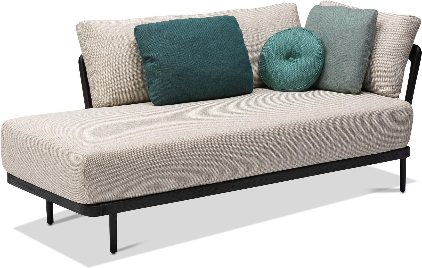 Flex Left corner double end seat - lava - teak nero