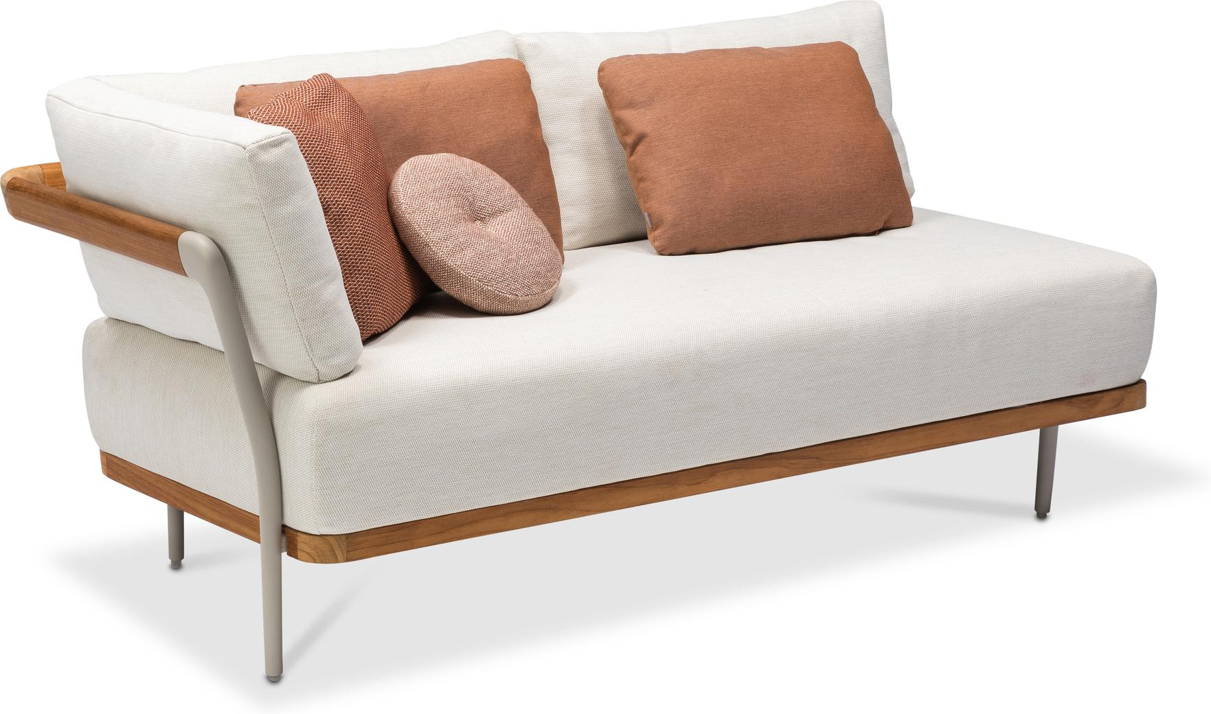 Flex Right corner double seat - flint - teak