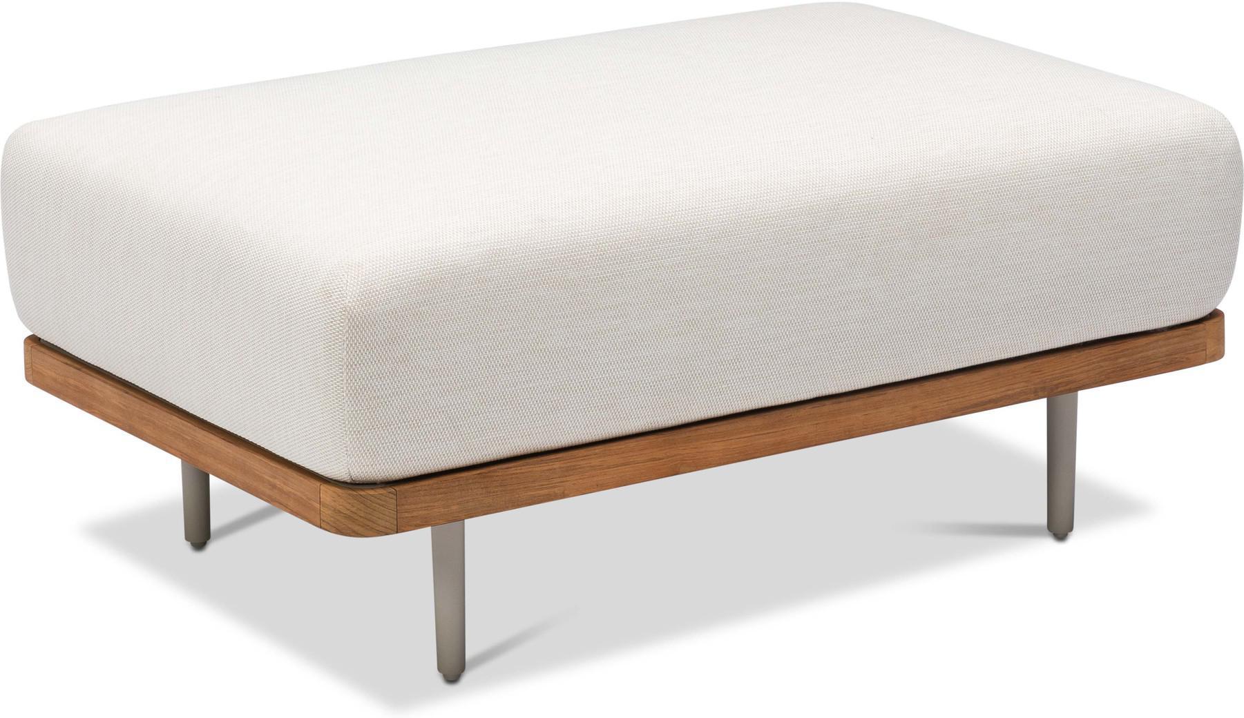 Poggiapiedi/tavolo da soggiorno large Flex - selce - teak