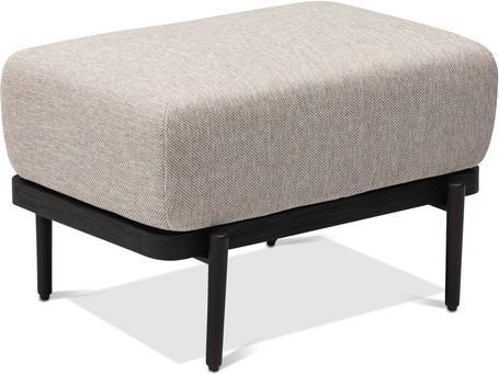 Large footstool/Loungetable - black - Teak Nero