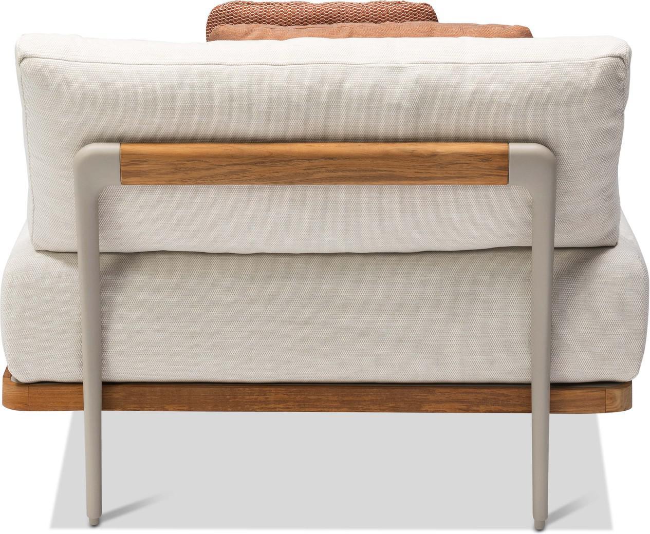Flex Large middle seat - flint - teak