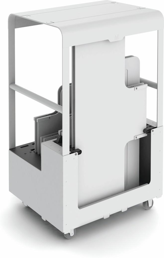 Air trolley for backrests white F8
