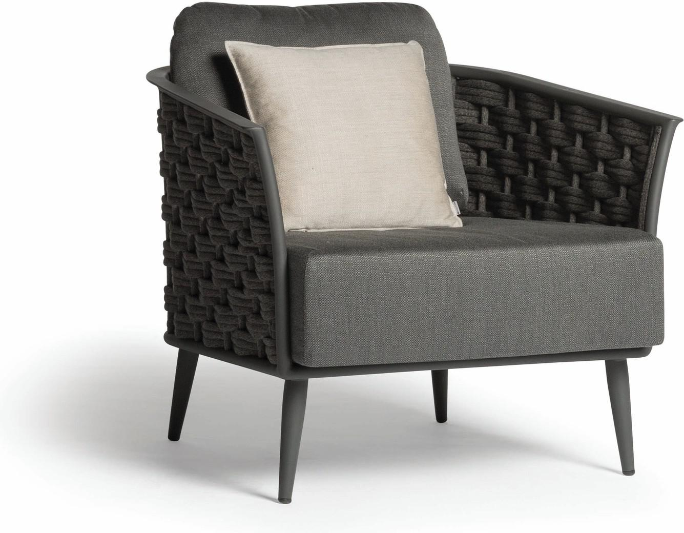 Cascade 1 seater lava - rope 45mm anthracite