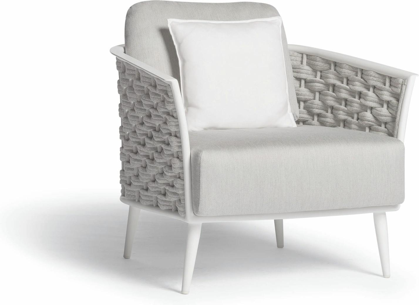 Cascade 1-Sitzer weiß - Seilgeflecht 45mm silber