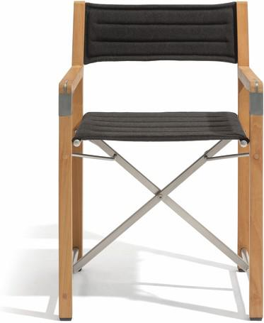 chair -  teak textiles ecru