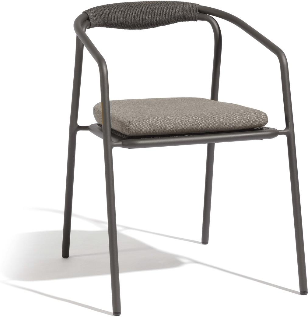Duo chair - lava - rope 4,5mm anthracite