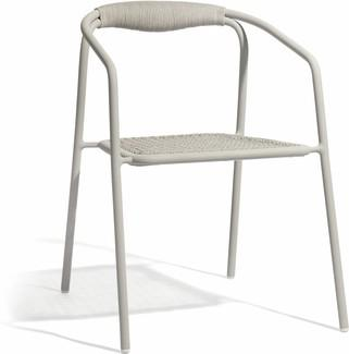 Duo chair - flint - rope 4,5mm pepper