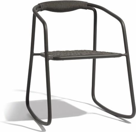 rocking chair - lava  rope 4,5mm anthracite