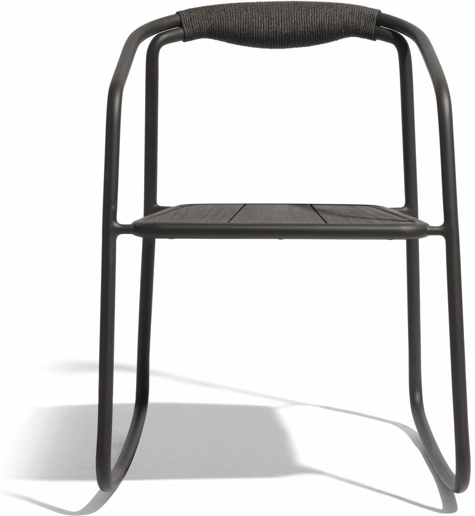 Chaise à bascule Duo - lave - corde 4,5mm anthracite