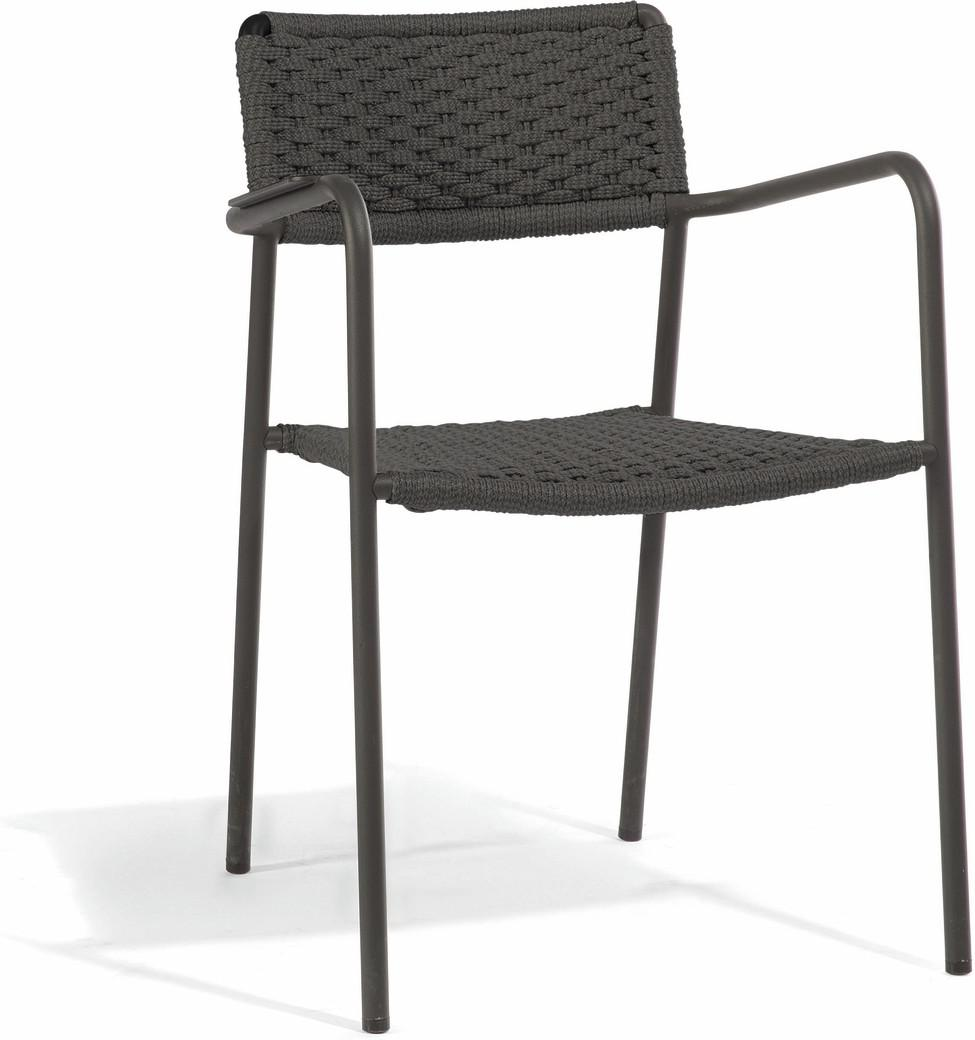Echo chair - lava - rope 11mm anthracite