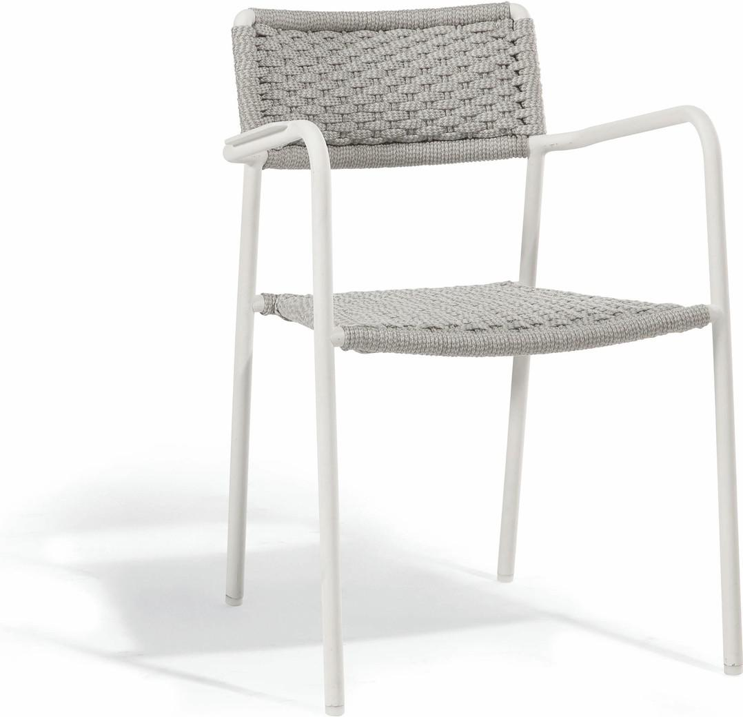 Echo chair - white - rope 11mm silver