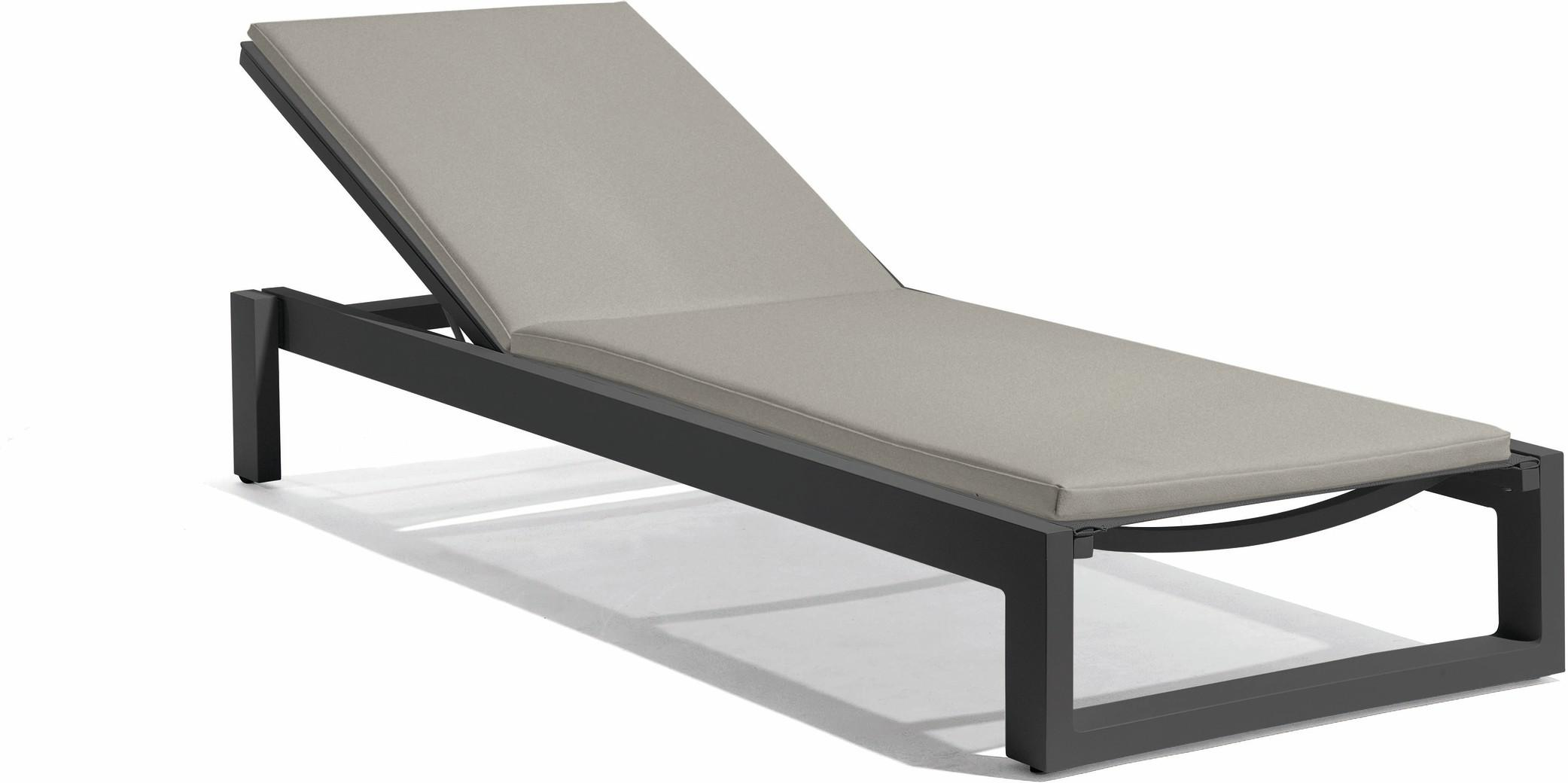 Fuse lounger - lava F10 - textiles black