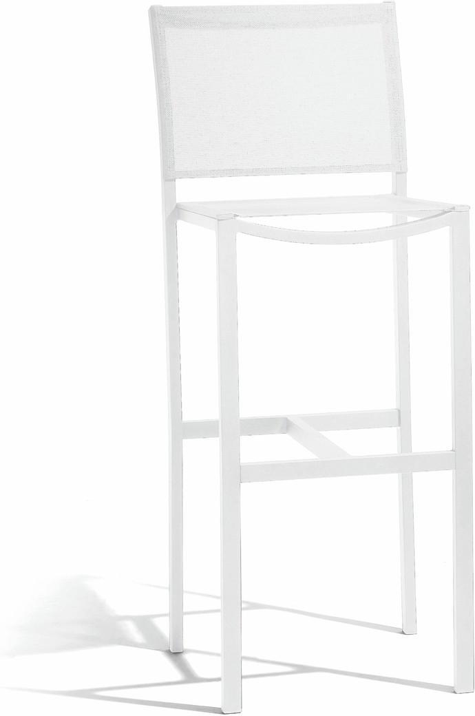Sgabello da bar 80 Latona - bianco - textiles white