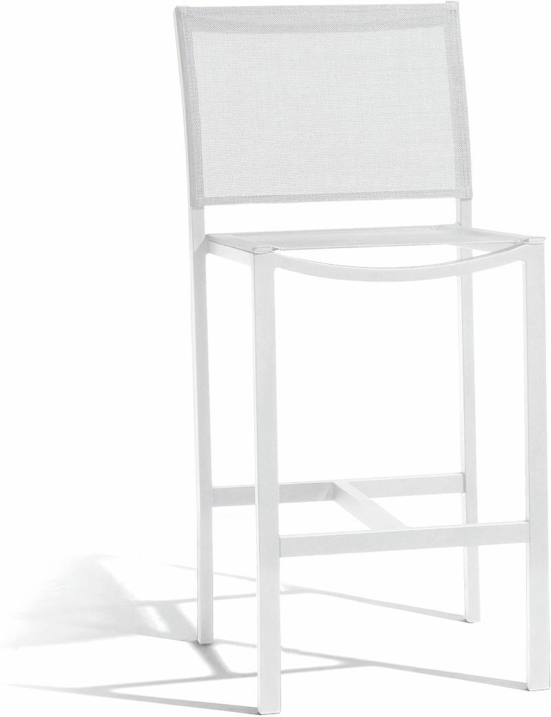 Sgabello da bar 60 Latona - bianco - textiles white