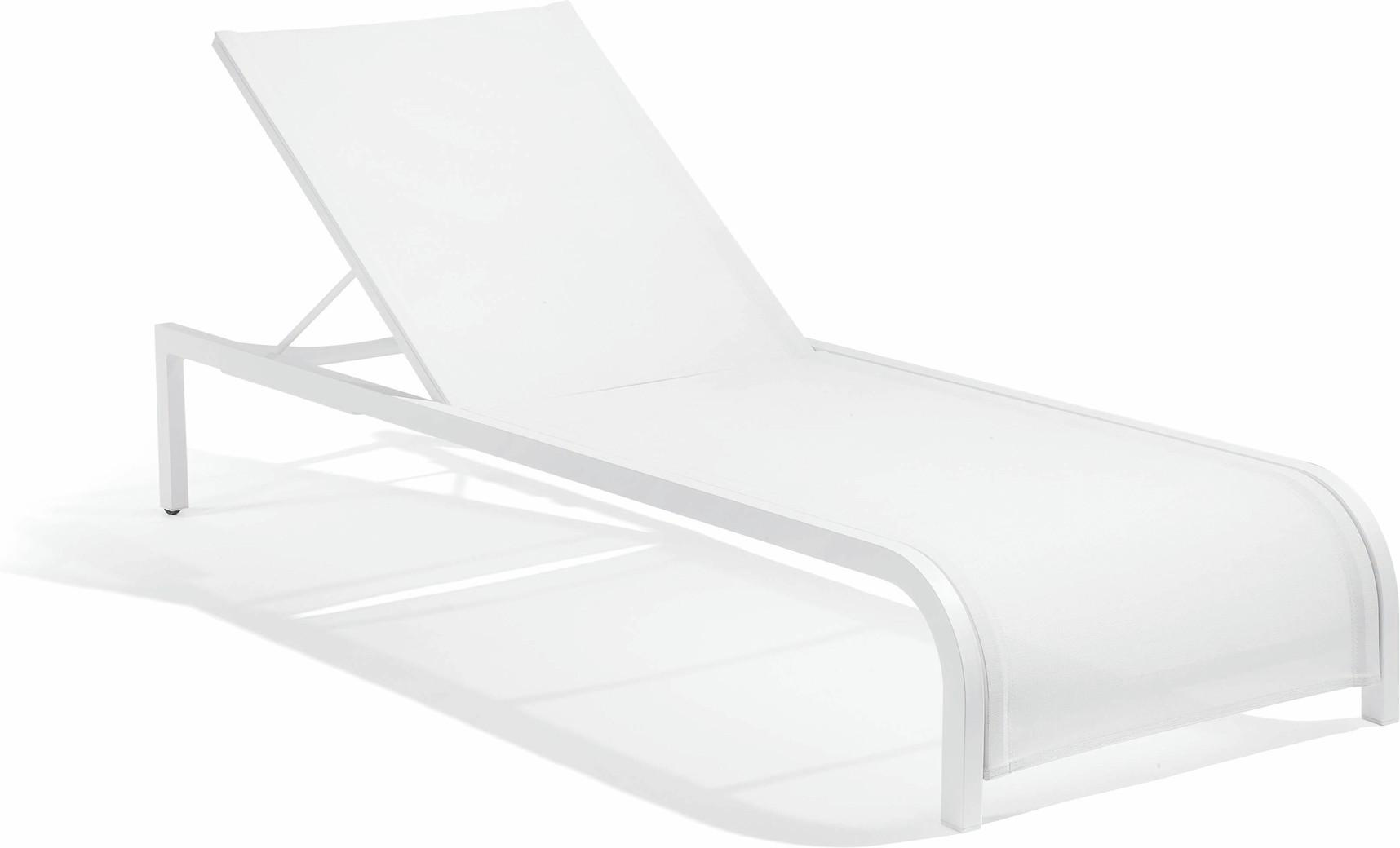Loungebed Latona - wit F8 textiles white