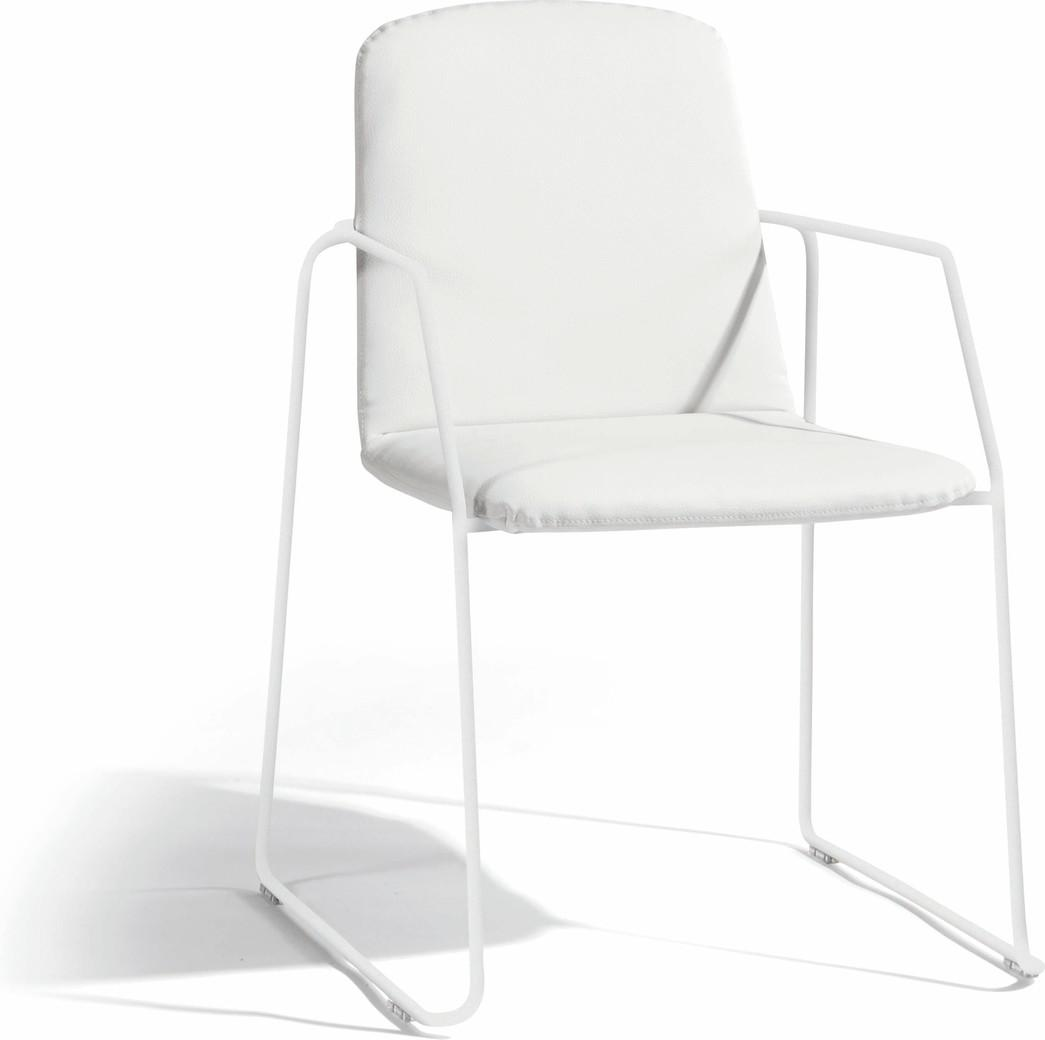 Loop chair - white - nautic leather white