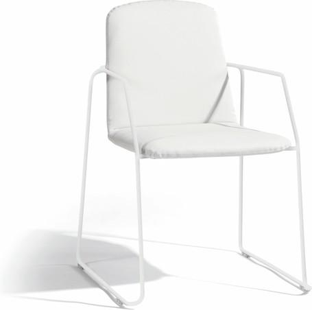 chair - white - nautic leather white