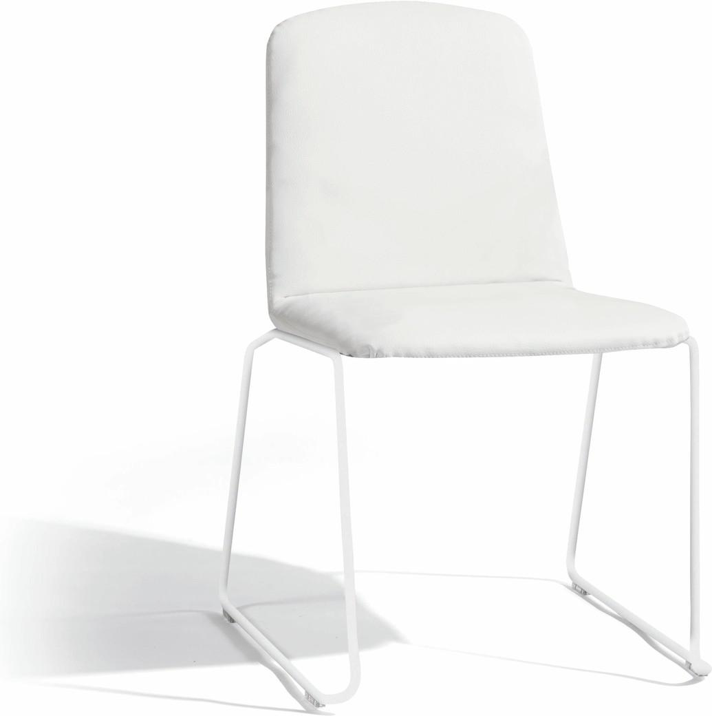 Loop dining chair - white - nautic leather white