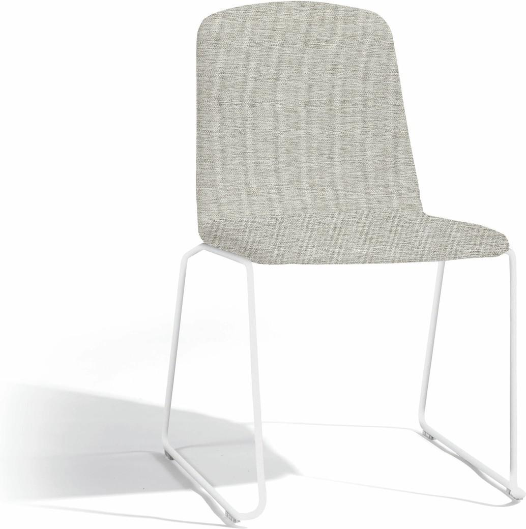 Loop silla de comedor - blanco - lotus smokey