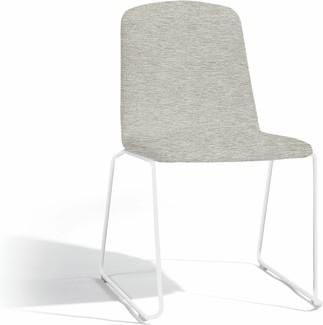 Loop dining chair - white - lotus smokey