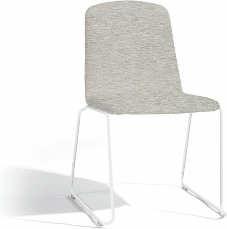 dining chair - white - lotus smokey
